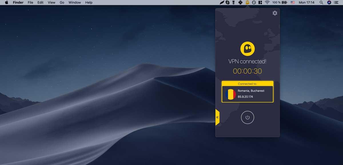 CyberGhostのMac版