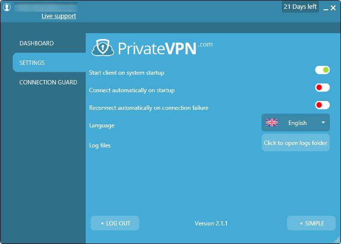 private vpn 設定